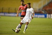 Santos empata com o River Plate-URU. Foto: Reprodução/Twitter