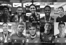 Vítimas do incêndio no CT do Flamengo. Foto: Reprodução