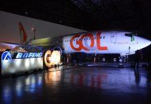 Boeing 737 Max 8 da Gol. Foto: Divulgação