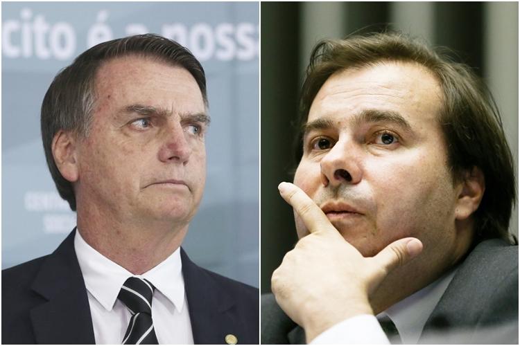 Bolsonaro e Maia. Foto: Reprodução