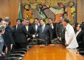 Presidente da Câmara dos Deputados, Rodrigo Maia, recebe Jair Bolsonaro. Foto: J. Batista/Câmara dos Deputados