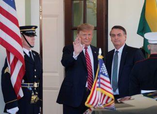 Bolsonaro e Trump se reúnem na Casa Branca. Foto: Carlos Barria/Reuters/Reprodução