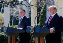 Presidente da República Jair Bolsonaro e Donald Trump, presidente dos Estados Unidos. Foto: Isac Nóbrega/PR