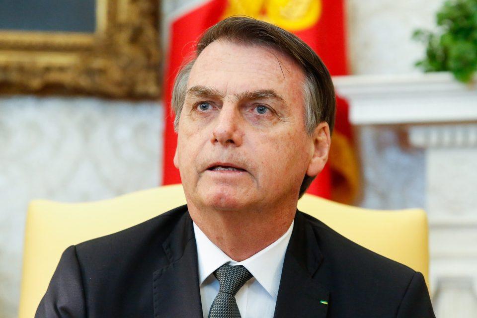 Presidente da República Jair Bolsonaro responde perguntas da imprensa durante o encontro. Foto: Isac Nóbrega/PR