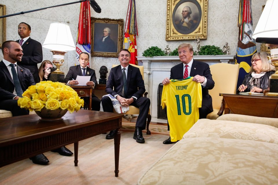 Encontro entre Jair Bolsonaro e Donald Trump. Foto: Isac Nóbrega/PR