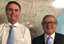 Jair Bolsonaro e Ricardo Vélez. Foto: Reprodução