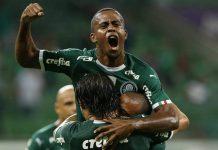 Carlos Eduardo comemora gol pelo Palmeiras. Foto: Agência Palmeiras
