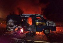 Assaltantes explodem carro-forte em São Carlos. Foto: Arquivo pessoal/Reprodução