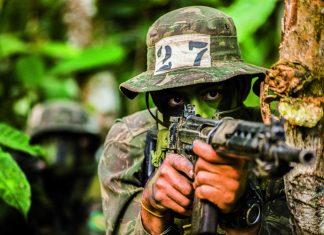 Militar durante treinamento. Foto: Exercito Brasileiro/Flickr