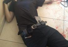 Foto mostra corpo de um dos autores do massacre na escola Raul Brasil, de Suzano. Foto: Reprodução