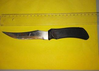 Faca foi usada para atacar estudantes. Foto: Polícia Civil/Divulgação