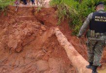 Barragem rompeu nesta sexta-feira (29). Foto: Polícia Ambiental/Divulgação