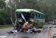 Acidente em Santa Catarina deixou quatro pessoas mortas. Foto: PRF/Divulgação