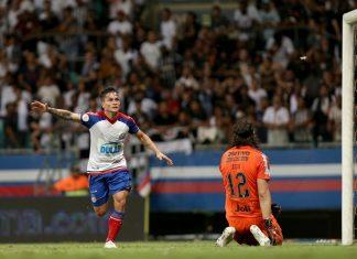 Bahia vence o Corinthians. Foto: Felipe Oliveira/Bahia