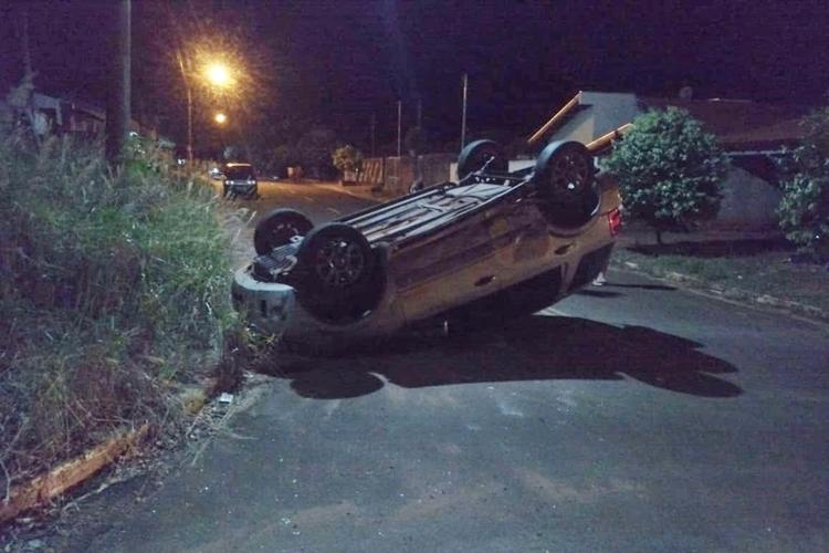 EcoSport envolvida em acidente em Glória de Dourados. Foto: Gazeta do Dia/Cedida