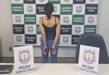 Enfermeira presa por estupro de vulnerável, no DF. Foto: Divulgação/Polícia Civil