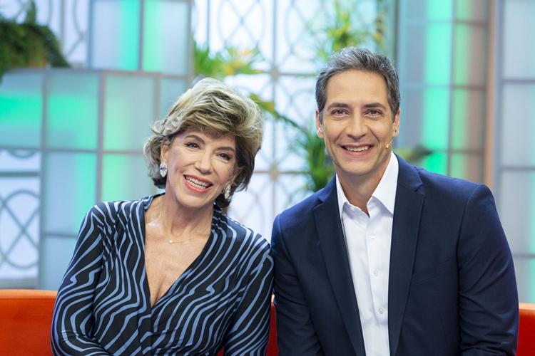 Silvia Poppovic e Luis Ernesto Lacombe apresentam o programa. Foto: Divulgação