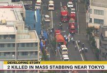 Ataque no Japão deixa 2 pessoas mortas. Foto: Reprodução