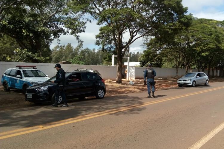 Polícia Militar realiza blitz educativa. Foto: Divulgação