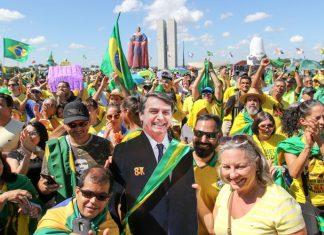 Ato em apoio ao governo de Jair Bolsonaro. Foto: Fabio Rodrigues Pozzebom/Agência Brasil