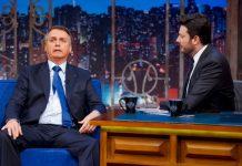 Bolsonaro durante programa The Noite. Foto: Gabriel Cardoso/SBT