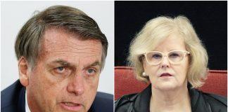 Jair Bolsonaro e Rosa Weber. Fotos: Carolina Antunes/PR e Carlos Moura/STF