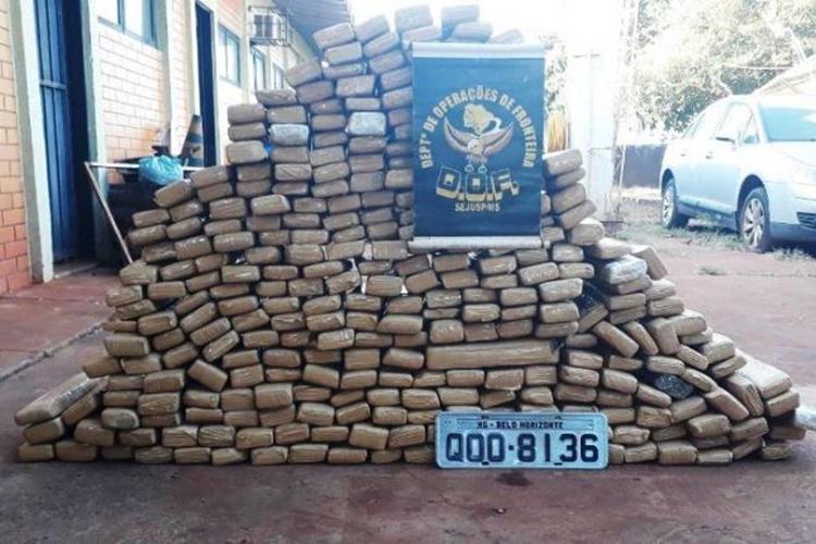 Droga apreendida pelo DOF. Foto: Divulgação