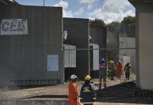 Um incêndio atingiu a subestação da Companhia Energética de Brasília (CEB). Foto: Marcello Casal Jr/Agência Brasil