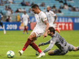 Grêmio e Fluminense jogaram no Sul. Foto: Lucas Merçon/Fluminense