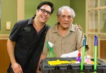 Lúcio Mauro Filho com o pai, Lúcio Mauro. Foto: Tata Barreto/TV Globo