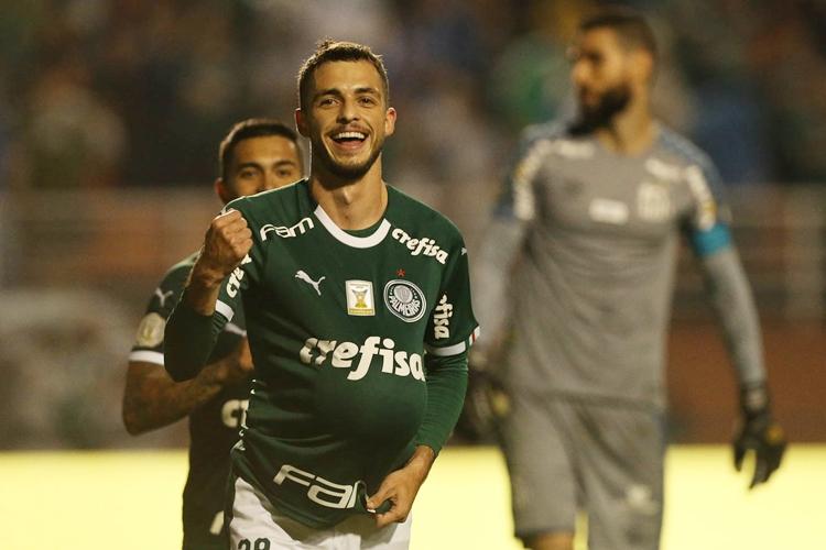 Palmeiras goleia o Santos por 4 a 0. Foto: Cesar Greco/Agência Palmeiras