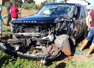Acidente aconteceu em Vicentina. Foto: Reprodução