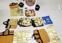 Os 111 kg de ouro apreendidos. Foto: Polícia Federal/Divulgação