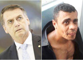 Bolsonaro e Adélio. Foto: Reprodução