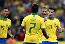 Brasil vence por 7 a 0. Foto: Lucas Figueiredo/CBF