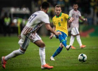 Brasil e Paraguai pela Copa América. Foto: Pedro Martins/MoWA Press