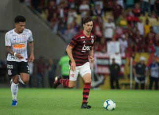 Flamengo vence o Corinthians. Foto: Alexandre Vidal/Flamengo