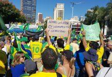 Várias cidades registram atos a favor do governo. Foto: Reprodução