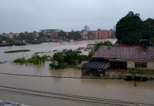 Rua alagada em Olinda. Foto: Reprodução