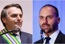 Jair Bolsonaro e Eduardo Bolsonaro. Foto: Divulgação