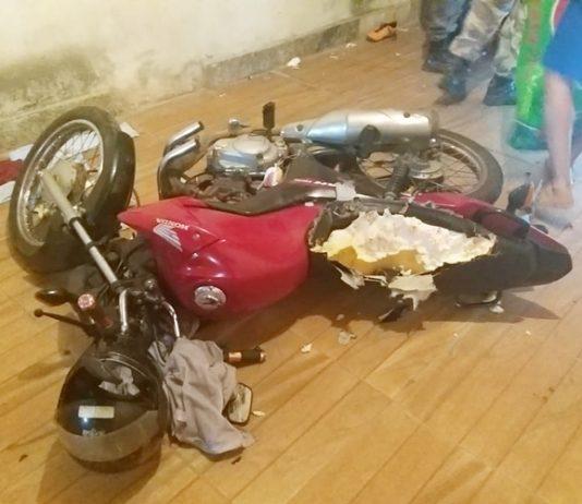 Cachorro destruiu parte de moto da família. Foto: Polícia Militar/Divulgação