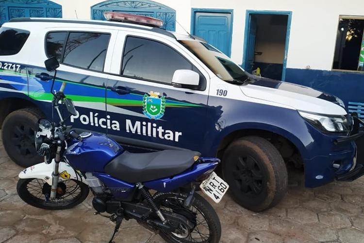 Moto foi apreendida. Foto: Divulgação