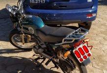 Moto furtada foi recuperada. Foto: Divulgação