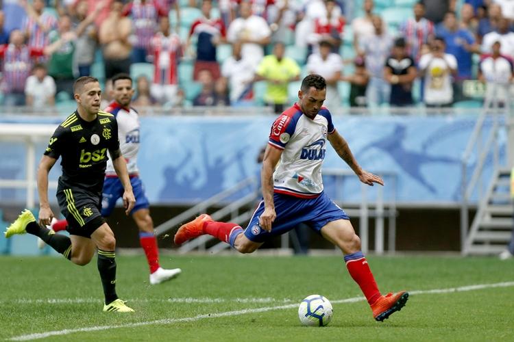 Bahia vence o Flamengo. Foto: Felipe Oliveira/Bahia