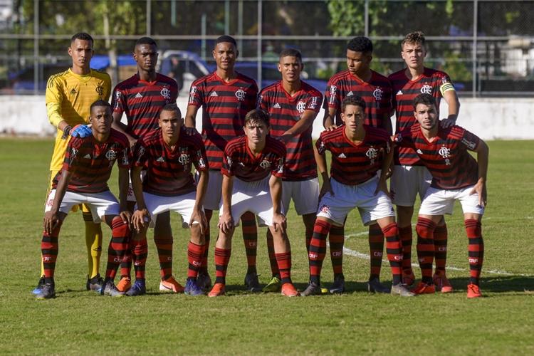 Flamengo sub-17. Foto: Marcelo Cortes/Flamengo