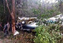 Avião caiu por volta de 12h20. Foto: Corpo de Bombeiros/Divulgação