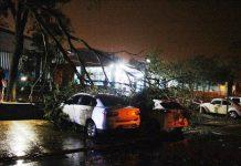 Vendaval causa prejuízos em Amambai. Foto: A Gazeta News/Reprodução