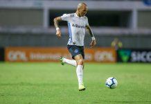 Diego Tardelli fez um dos gols do Grêmio. Foto: Lucas Uebel/Grêmio