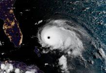 Imagens deste domingo (1º) do furacão Dorian. Foto: NOAA