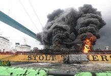 Navio explodiu na Coreia. Foto: Reuters/Reprodução